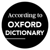 according to oxford dictionary